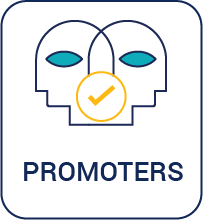 Satisfied customers become promoters