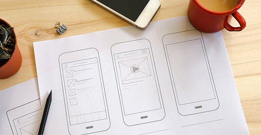 7edge mobile application design wireframes